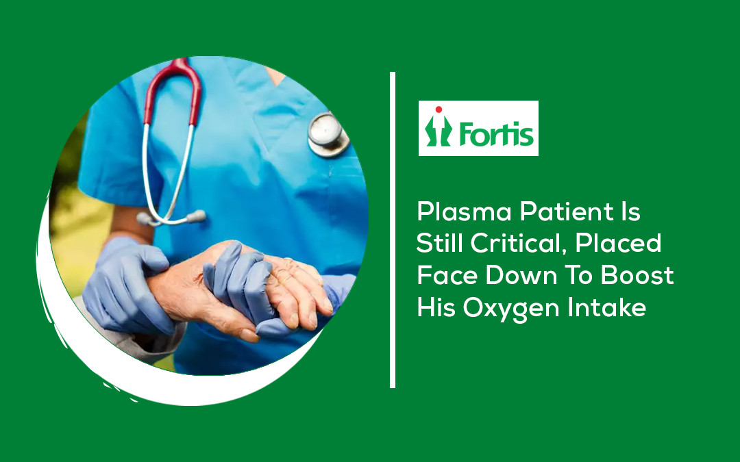 News - Plasma Patient Is Still Critical, Placed Face Down To Boost His Oxygen Intake
