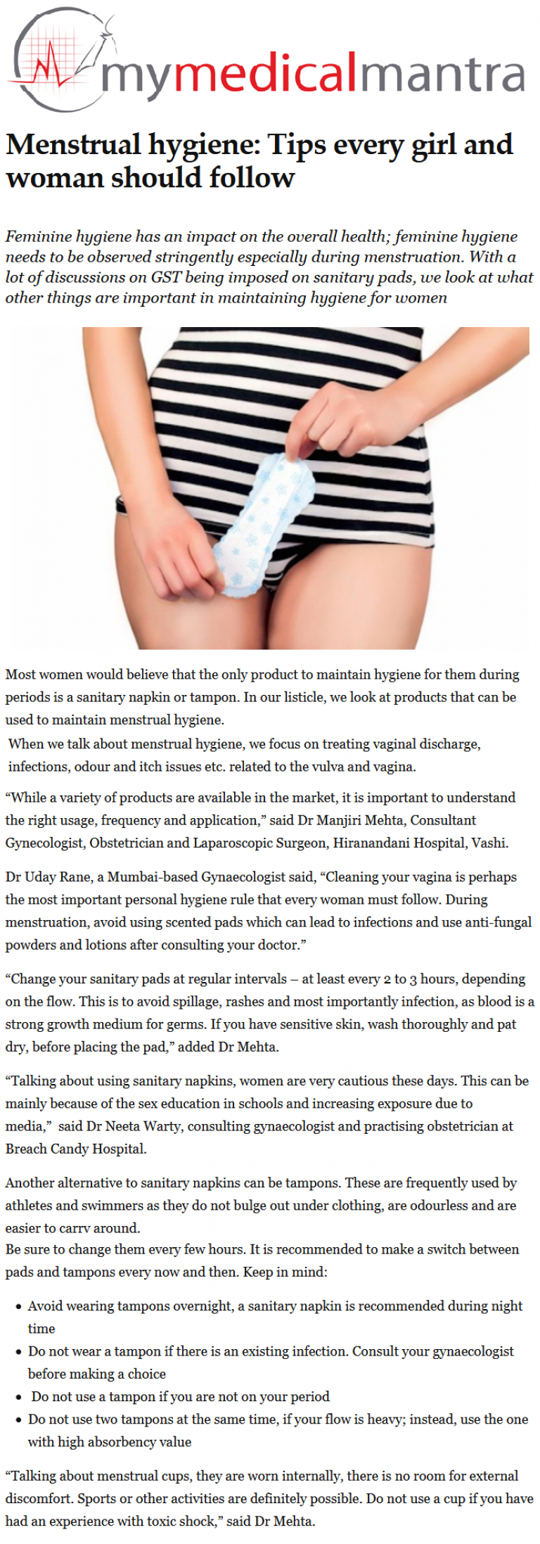 News - Menstrual Hygiene: Tips Every Girl and Woman Should Follow