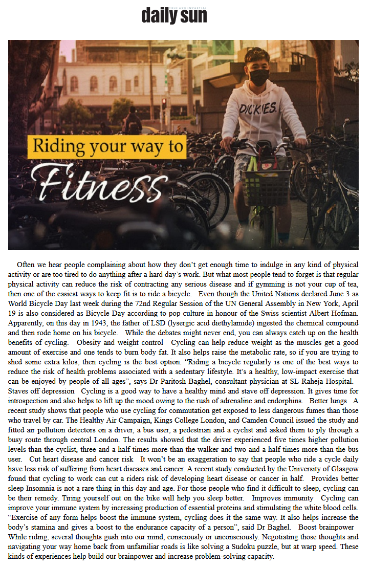 News - Riding your way to fitness