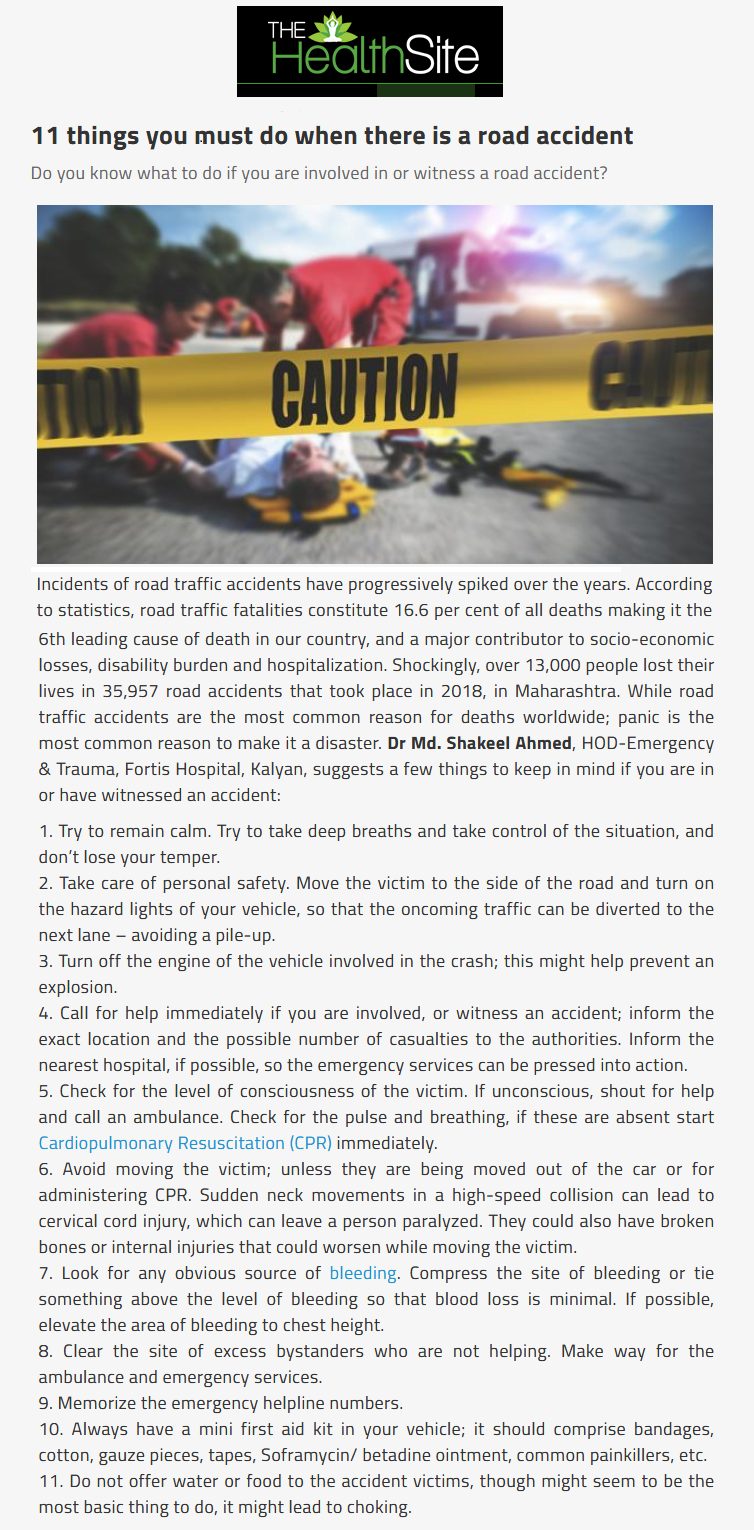 News - 11 Things You Must do When There is a Road Accident