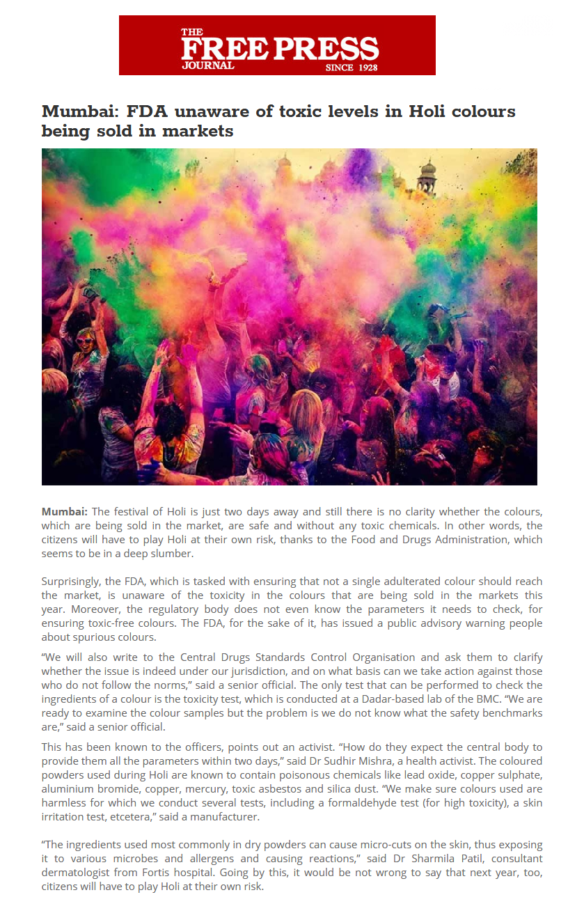 News - Experts Tips for a Safe and Healthy Holi